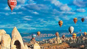 Kapadokya'ya gelen turist sayısı % 85 arttı.