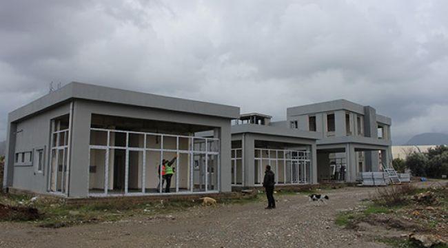 Gazipaşa Kültür Merkezi inşaatında sona yaklaşıldı