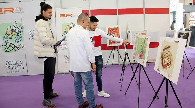 Ödüllü karikatürler HORECA Fuarı'nda sergileniyor