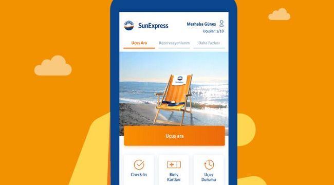 SunExpress mobil uygulaması güncellendi